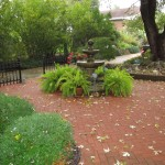 Paver Patio with Fountain
