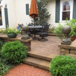 Paver Patio with Sitting Wall